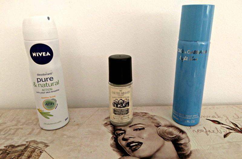 empties deodorants nivea le couvent des minimes dolce gabbana