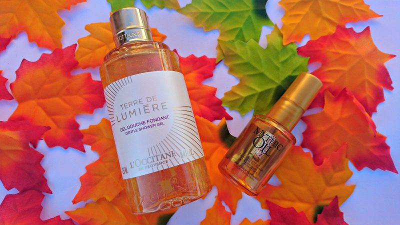autumn beauty products L'Occitane Terre de Lumiere L'Oreal Mythic Oil