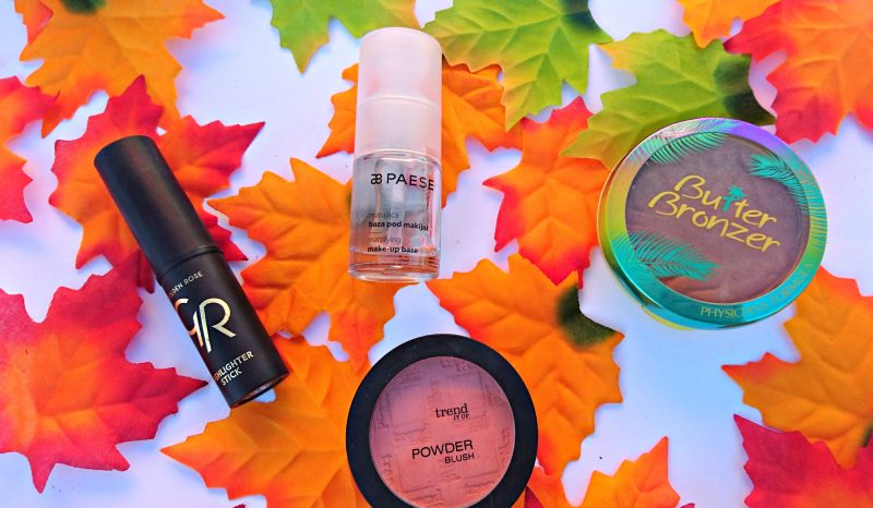 autumn beauty products Golden Rose Paese, Trend it Up, Physician's formula