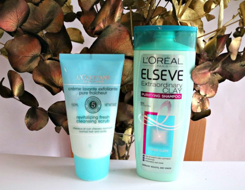 simple hair care routine L'Oreal Elseve L'Occitane