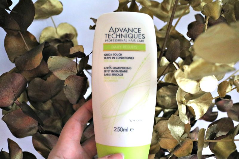 simple hair care routine Avon leave in conditioner