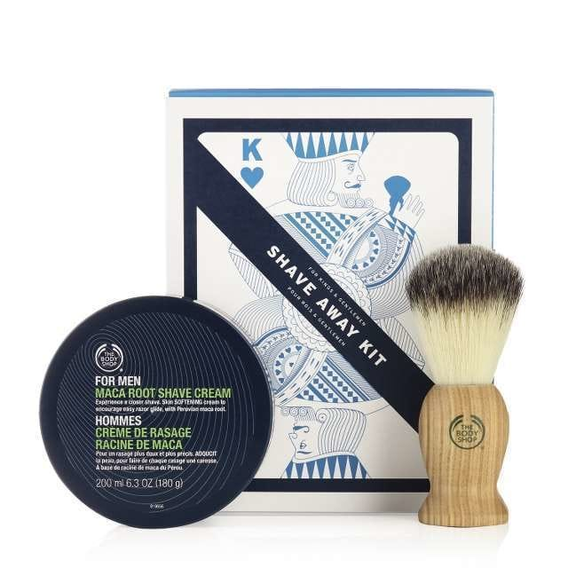 top 20 X-mas gifts under 20€ - the body shop shave away kit
