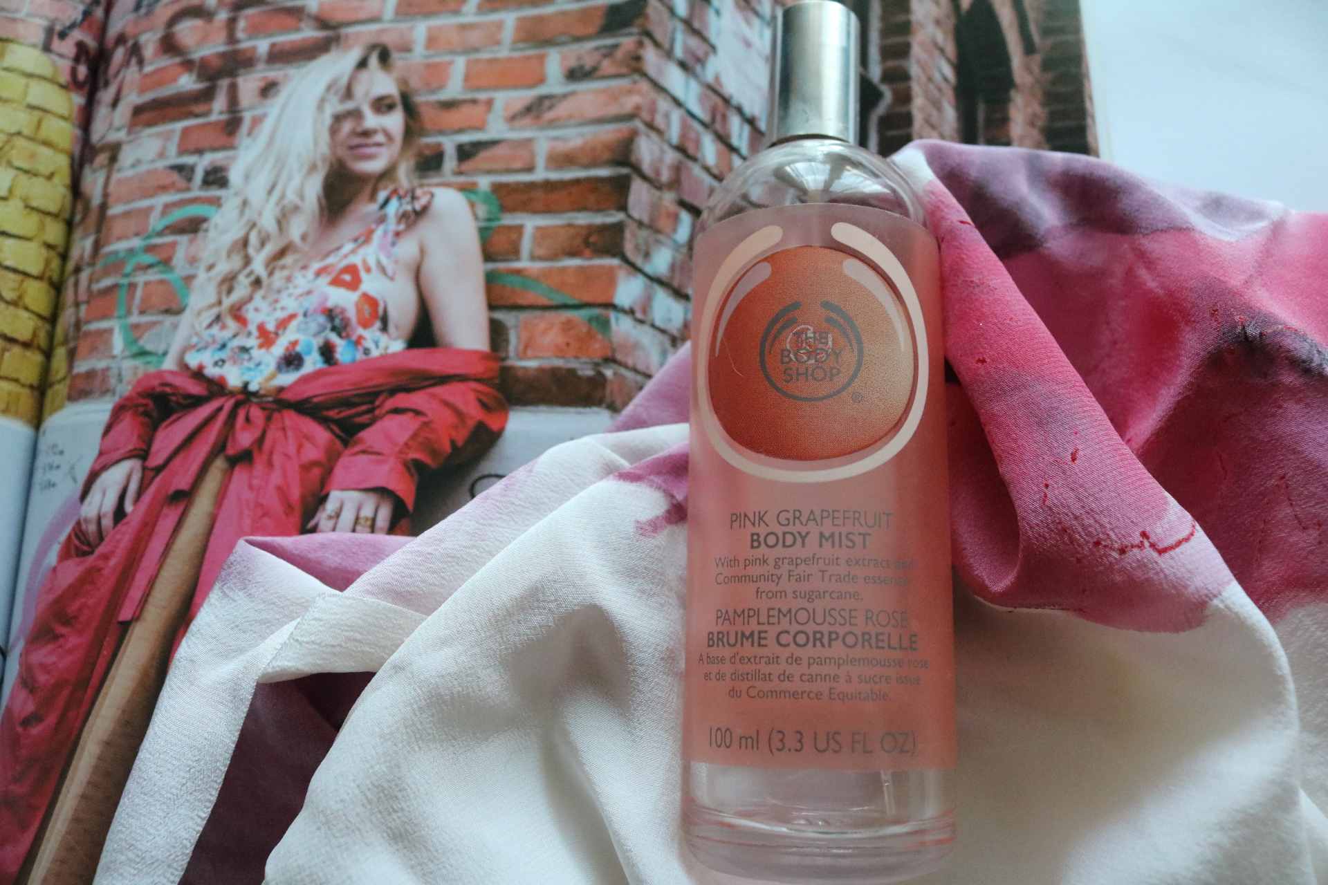 Finish six by summer project pan The body Shop grapefruit mist